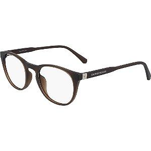 Óculos de Grau Calvin Klein Jeans CKJ20511 201/50 Marrom Fosco Transparente