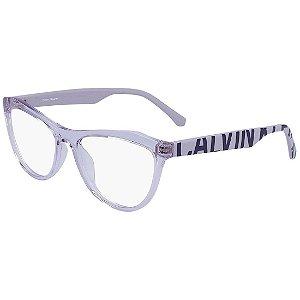 Óculos de Grau Calvin Klein Jeans CKJ19521 550/54 Lilás Transparente