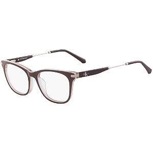 Óculos de Grau Calvin Klein Jeans CKJ18706 007/52 Marrom