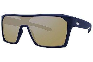 Óculos de Sol HB Carvin 2.0/136 Preto Fosco - Lente Dourado Espelhado