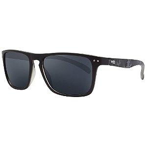 Óculos de Sol HB Cody/55 Preto/Cinza Camuflado - Lente Cinza
