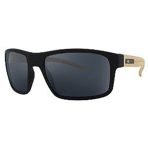 Óculos de Sol HB Overkill/59 Preto/Madeira - Lente Cinza