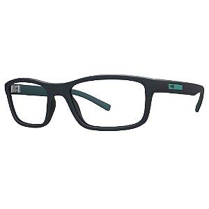 Óculos de Grau HB Polytech 93121/54 Cinza Fosco Detalhe Verde