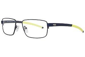 Óculos de Grau HB 93422/55 Cinza Fosco/Azul Fosco