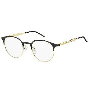 Óculos de Grau Tommy Hilfiger TH 1622/G/52 Preto/Dourado