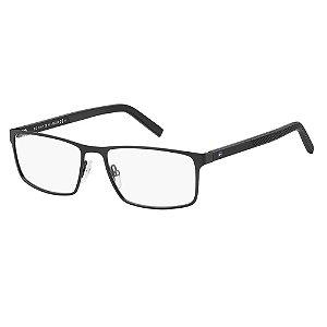 Óculos de Grau Tommy Hilfiger TH 1593/56 Preto Fosco