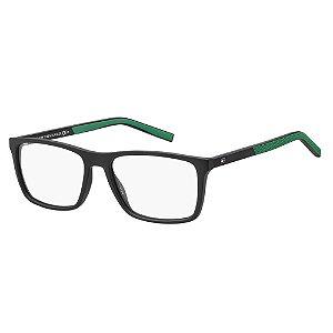 Óculos de Grau Tommy Hilfiger TH 1592/55 Preto Fosco