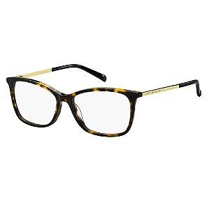 Óculos de Grau Tommy Hilfiger TH 1589/53 Havana Escuro