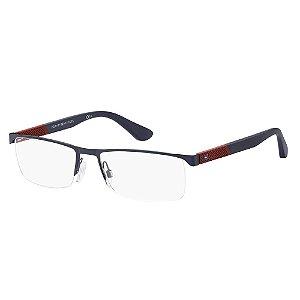 Óculos de Grau Tommy Hilfiger TH 1562/56 Azul Fosco