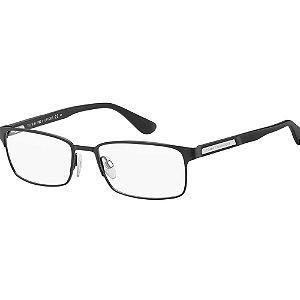 Óculos de Grau Tommy Hilfiger TH 1545/56 Preto Fosco