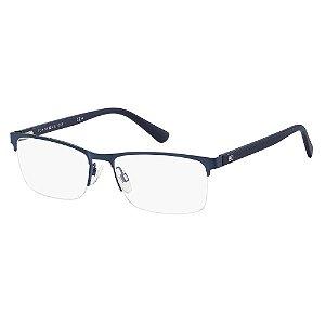 Óculos de Grau Tommy Hilfiger TH 1528/56 Azul Escuro