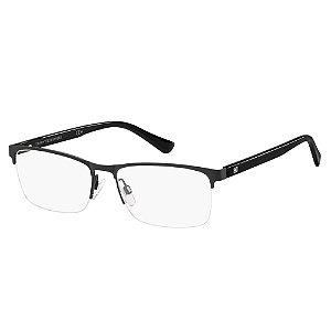 Óculos de Grau Tommy Hilfiger TH 1528/56 Preto Fosco