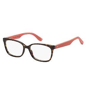 Óculos de Grau Tommy Hilfiger TH 1492/53 Marrom/Havana