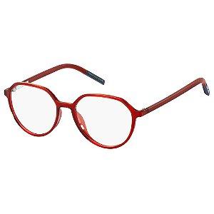 Óculos de Grau Tommy Hilfiger Jeans TJ 0011 -  50 - Vermelho