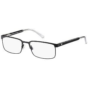 Óculos de Grau Tommy Hilfiger TH 1235 -  55 - Preto