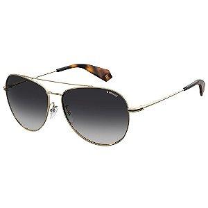 Óculos de Sol Polaroid Pld 2083/G/S  61 - Dourado - Polarizado