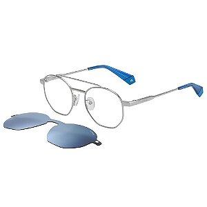 Óculos de Sol Polaroid Pld 6083/G/Cs  51 - Azul - Clip-on Polarizado