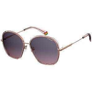 Óculos de Sol Polaroid Pld 6113/S  56 - Dourado - Polarizado