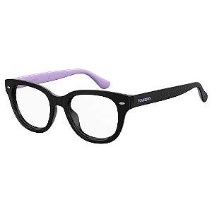 Óculos de Grau Havaianas Almada/V -  49 - Preto