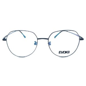 Armação de Óculos Evoke EVK RX28T 09A - 52 - Preto