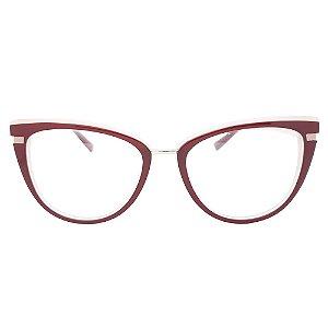 Armação de Óculos Ana Hickmann AH6405 H02S - 53 - Vermelho
