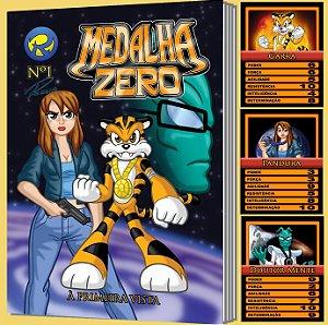 Medalha Zero Nº 1 - À Primeira Vista - história em quadrinhos + 3 cards colecionáveis
