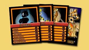 Pack Nº 2 com 3 cards colecionáveis Medalha Zero - Sombra, Pintado e Juba
