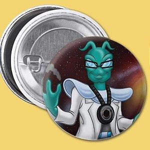 Bóton Medalha Zero do Personagem Doutor Mente