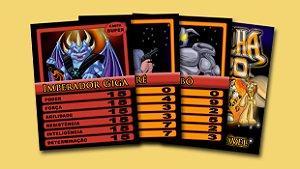 Pack Nº 3 com 3 cards colecionáveis Medalha Zero - Imperador Giga, André e Robô