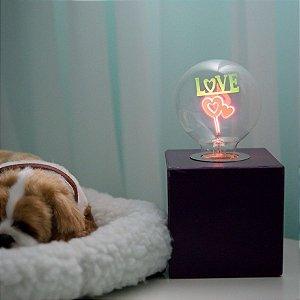 Luminária Cube Quartzo Lila P