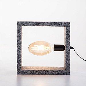 Luminária de mesa Square granito Cinza