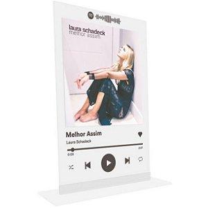 """Placa Acrílica Spotify - """"Melhor Assim"""""""