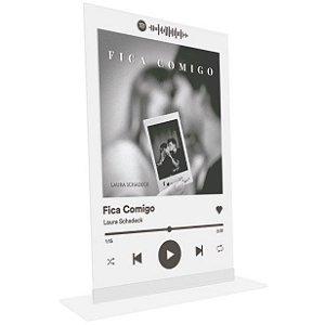 """Placa Acrílica Spotify - """"Fica Comigo"""""""