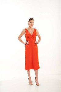 Vestido Midi Isabelle em Crepe