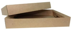 EMBALAGEM MULTIUSO RETANGULAR KRAFT - 300X240X50mm - 50 UNIDADES