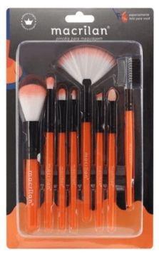 Kit com 8 Pincéis para Maquiagem MacrilanKP3-1A