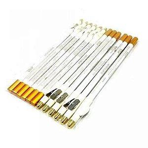 Lápis Branco para Olhos com Apontador Any Color 1301 – Pacote c/ 12 unid