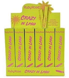 Máscara para Cílios Crazy in Lash Ruby Rose HB-505 – Box c/ 24 unid