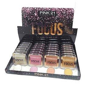 Paleta de Iluminador Focus Pink 21 Cosmetics CS2434 - Box c/ 24 unid