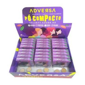 Pó Facial Compacto Velvety Cover HD Adversa AD114-A – Box c/ 24 unid
