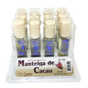 Protetor Labial com Manteiga de Cacau V. Garbin 008 - Box c/ 12 unid