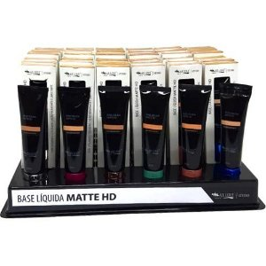 Base Líquida Matte HD Max Love Cores Claras 08 ao 15 – Box c/ 36 unid