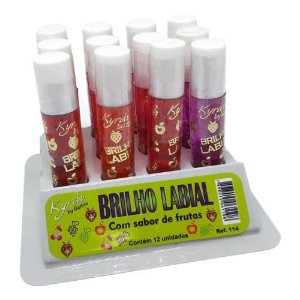Brilho Labial Frutas Kyrav 114 – Box c/ 12 unid