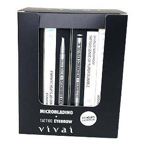 Caneta Delineadora para Sobrancelha Microblading Fio a Fio PretoVivai 2058.1.1 – Box c/ 24 unid