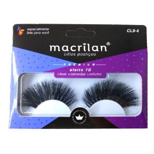 Cílios Postiços Efeito 7D Super Volume Macrilan Linha Premium CL9-4