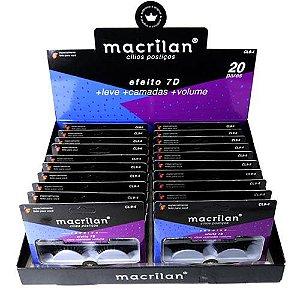 Cílios Postiços Efeito 7D Super Volume Macrilan Linha Premium CL9-4 – Box c/ 20 unid