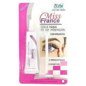 Cola para Cílios Postiços Branca Miss France MF-7038
