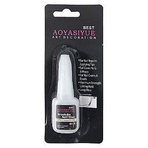 Cola para Unhas Postiças Brush Onls Nail Glue DF-2365/FC-512/JS-004/JS-005/HB-503 – Pcte c/ 12 unid