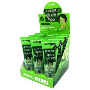 Gel Facial Peel Off Argila Verde e Pepino Dermachem – Box c/ 09 unid