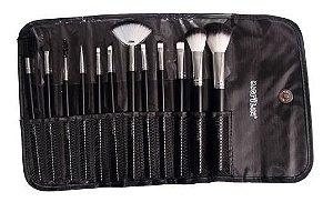 Kit com 12 Pincéis Macrilan Para Maquiagem KP1-5E